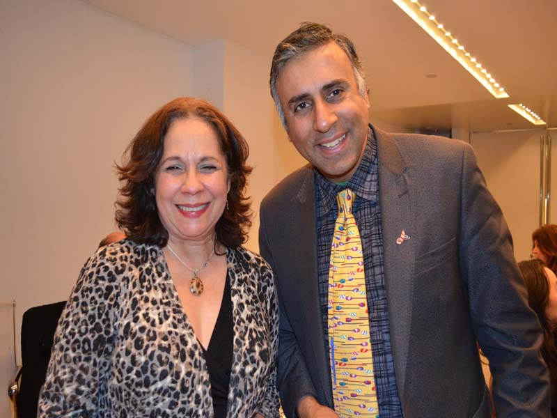 Dr.Abbey with Rosalba Rolon President Pregones Theatre