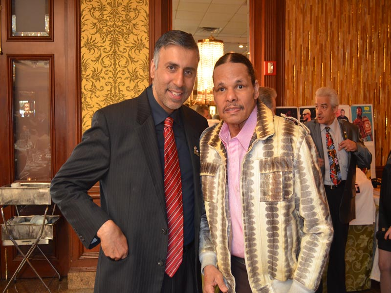 Dr.Abbey with Saul Mamby 2 time World Boxing Champ