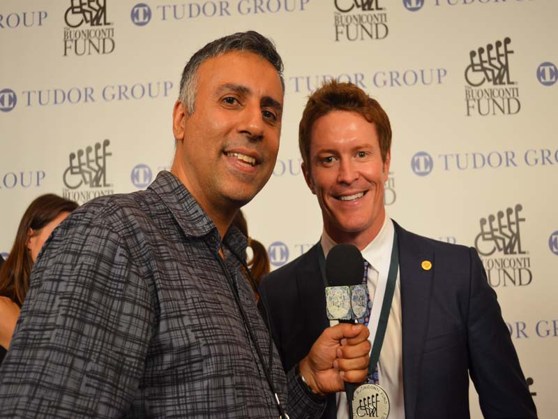 Dr.Abbey with Scott Dixon 4 Time Indy Car Racing Champion