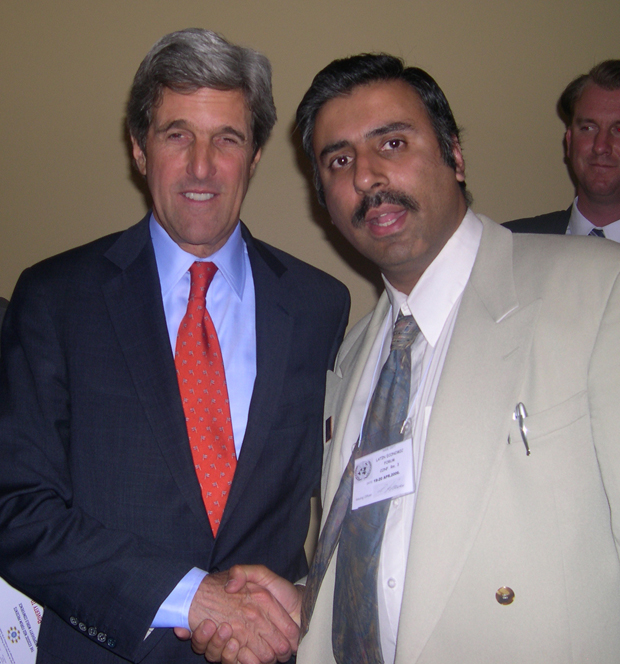 Dr.Abbey with Secty of State  John Kerry