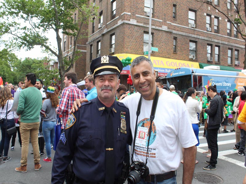 Dr.Abbey with Sgt Ed Conroy President NYPD Holy Name Brooklyn Queens Chapter