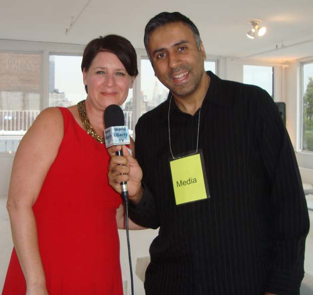 Dr.Abbey with Sharon Stapel Executive Director New York City Anti-Violence Project