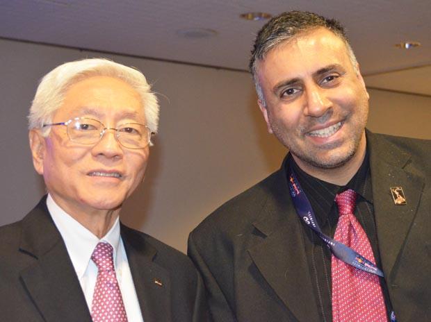 Dr.Abbey with Shau-wai Lam Chairman DCH Auto Group