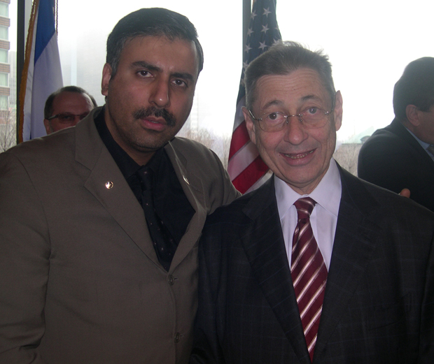 Dr.Abbey with Sheldon Silver Speaker of The Assembly