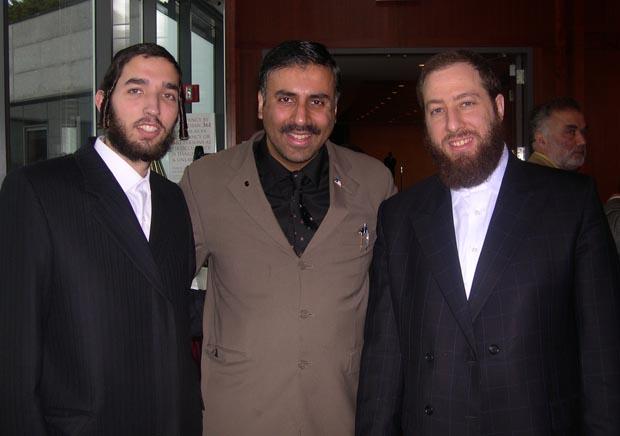 Dr.Abbey with Simcha Eichenstein,Ezra Friedlander Org