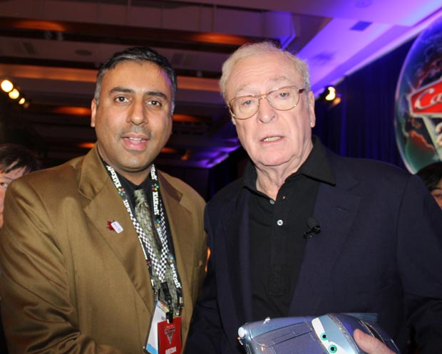 Dr.Abbey with Sir Michael Caine 2 Time Academy Award Winner