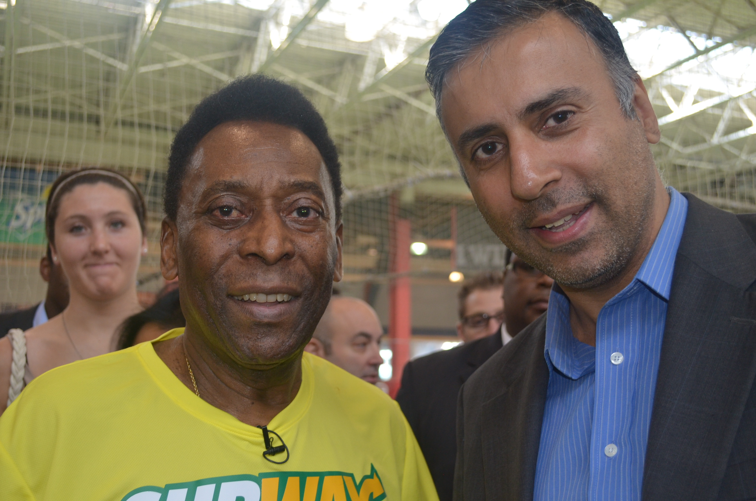 Dr.Abbey with Soccer great Pele from Brazil