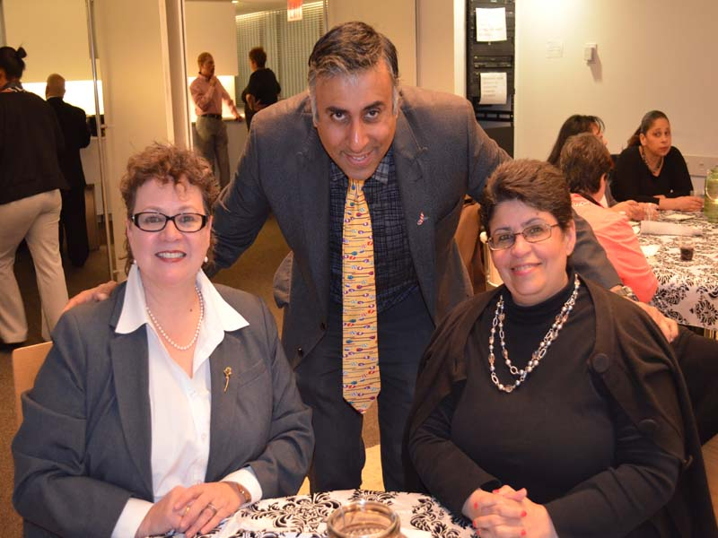 Dr.Abbey with Sonia Ayala & Mary Olivera Chairs of LDCOC