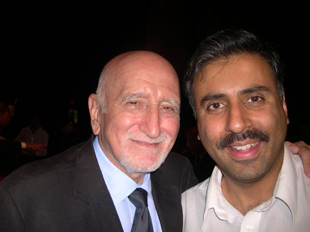 Dr.Abbey with Sopranos actor Dominic Chianese (Uncle Jr)