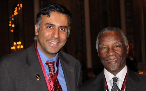 Dr.Abbey with South Africa Former President Thabo Mbeki