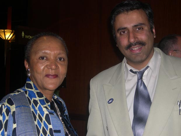 Dr.Abbey with South African Amb to Washington DC Barbara Maskerale