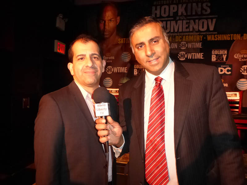 Dr.Abbey with Stephen Espinoza For Showtime Boxing