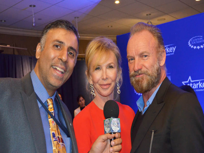 Dr.Abbey with Sting & His Wife Trudie Styler