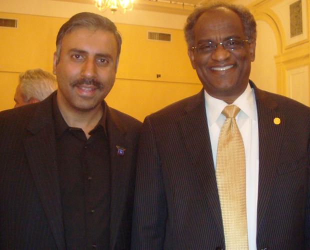 Dr.Abbey with Taj Hamad President of WANGO