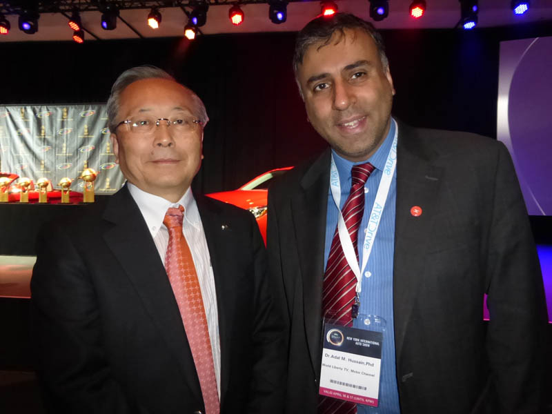 Dr.Abbey with Takashi Yamanouchi Chairman Mazda