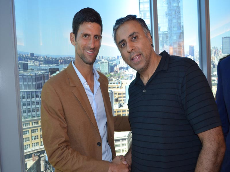 Dr.Abbey with Tennis Great Novak Djokovic