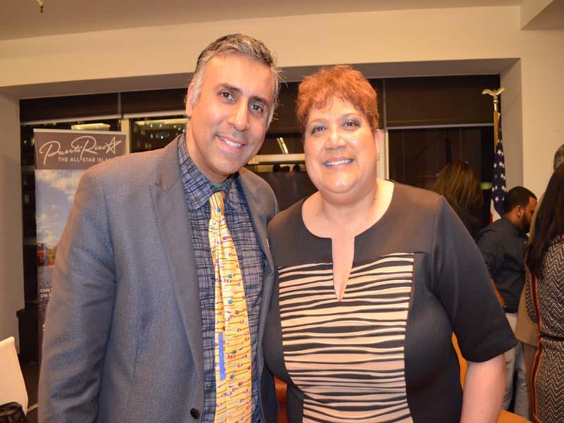 Dr.Abbey with Teresa Santiago Chairwoman Comite Noviembre