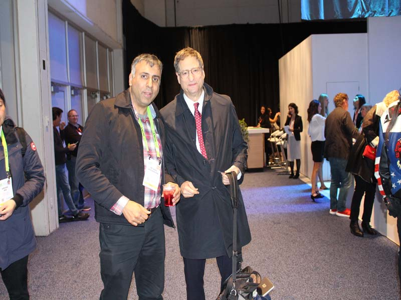 Dr.Abbey with Thomas E. Rothman Chairman of Sony Pictures Entertainment's Motion Picture Group