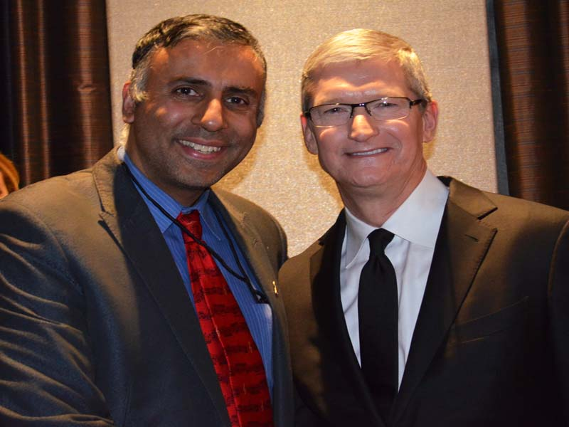 Dr. Abbey with Tim Cook CEO Apple Inc