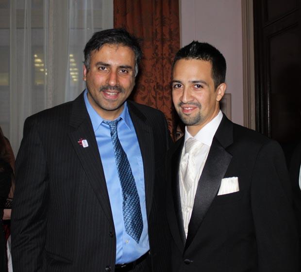 Dr.Abbey with Tony Award winning Actor Lin-Manuel Miranda