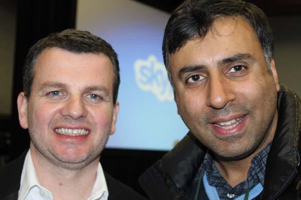 Dr.Abbey with Tony Bates CEO of Skype