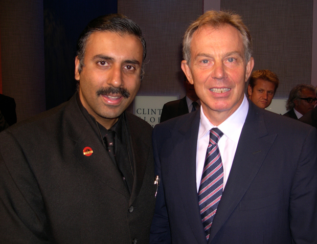Dr.Abbey with Tony Blair Former Prime Minister of England