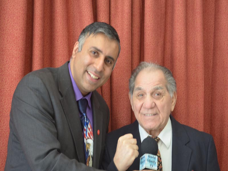 Dr.Abbey with Tony DeMarco former Welterweight Boxing Champ
