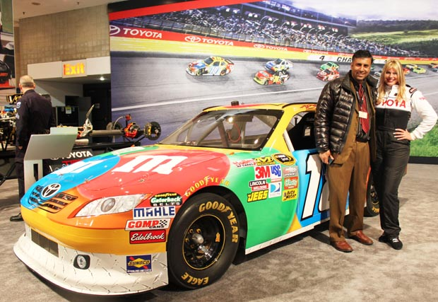 Dr.Abbey with Toyota Racing Car
