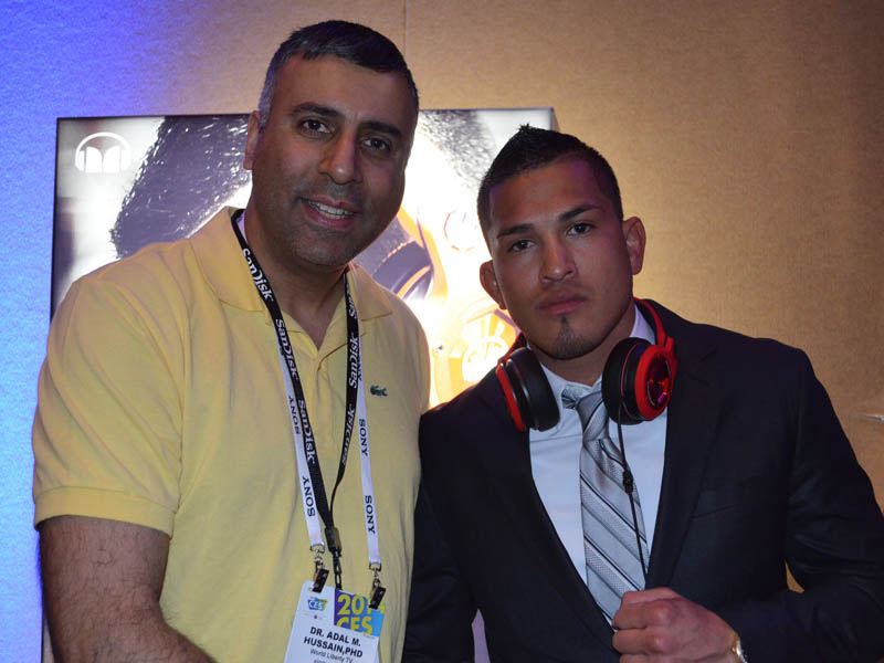Dr.Abbey with UFC World Lightweight Champ Anthony Pettis
