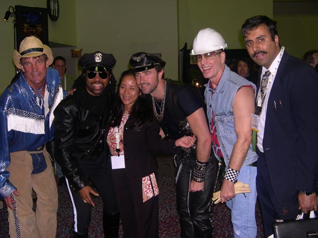 Dr.Abbey with Village people