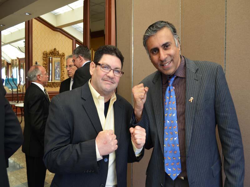 Dr.Abbey with Vilomar Fernandez Former Boxing Contender