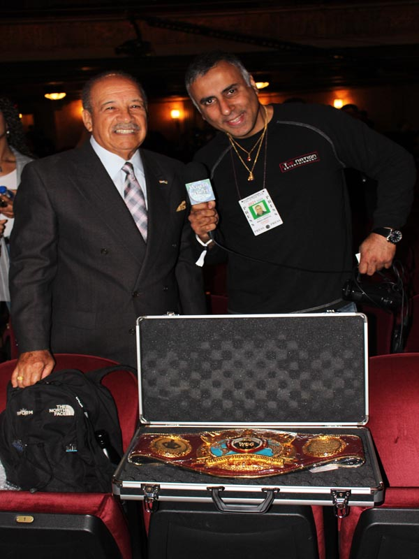 Dr.Abbey with WBO President Francisco Valcarcel