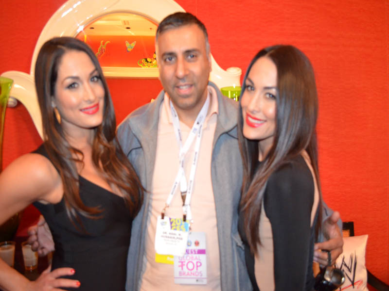 Dr.Abbey with WWE Divas The Bella Twins