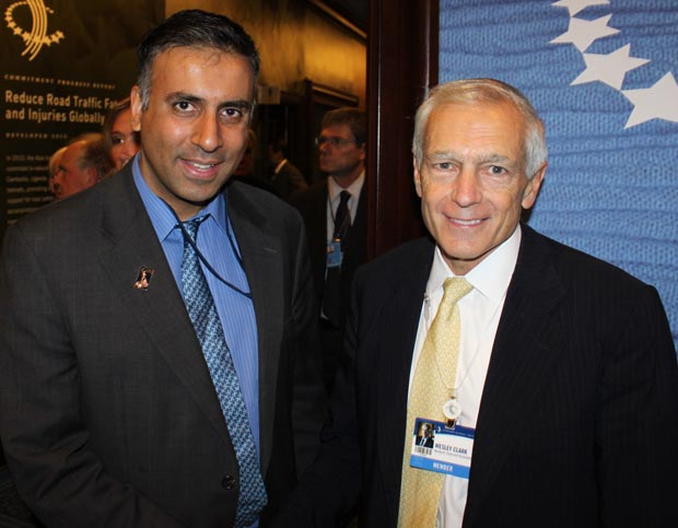 Dr.Abbey with Wesley K. Clark,  Retired Army General