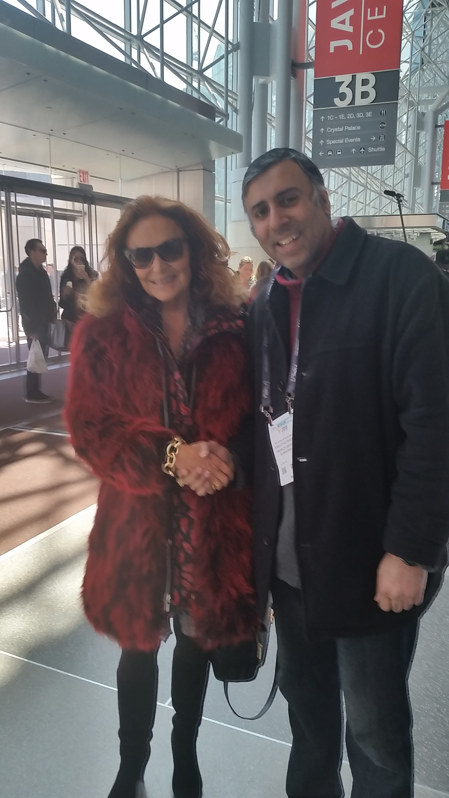 Dr.Abbey with World Renowed Designer Diane Von Furstenberg