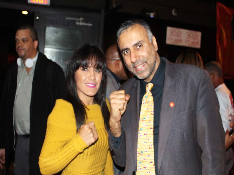 Dr.Abbey with Yazmin Rivas 2 Time Womens World Boxing Champ