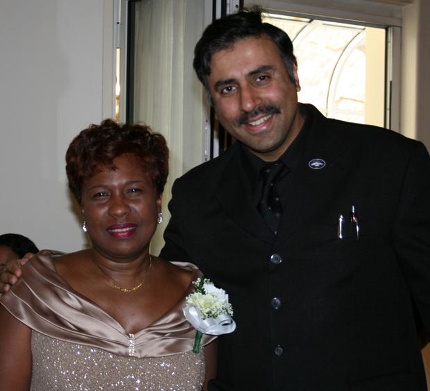 Dr.Abbey with Yolanda Lezama-Clark, President West Indian Day Parade