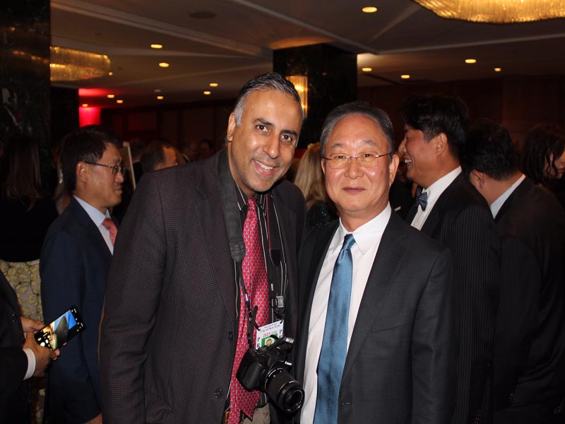 Dr.Abbey with Young Hoon Eom President & CEO Samsung Electronics America Inc