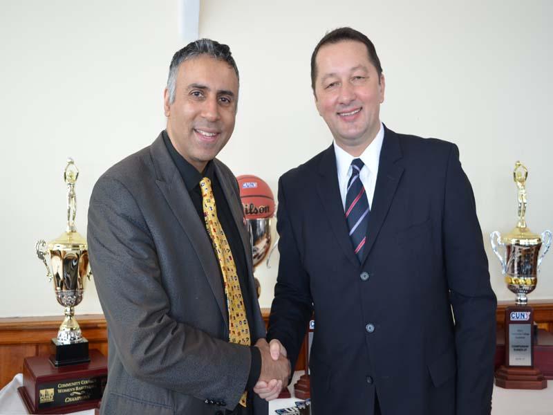 Dr.Abbey with Zak Ivkovic Executive Dir CUNY AC