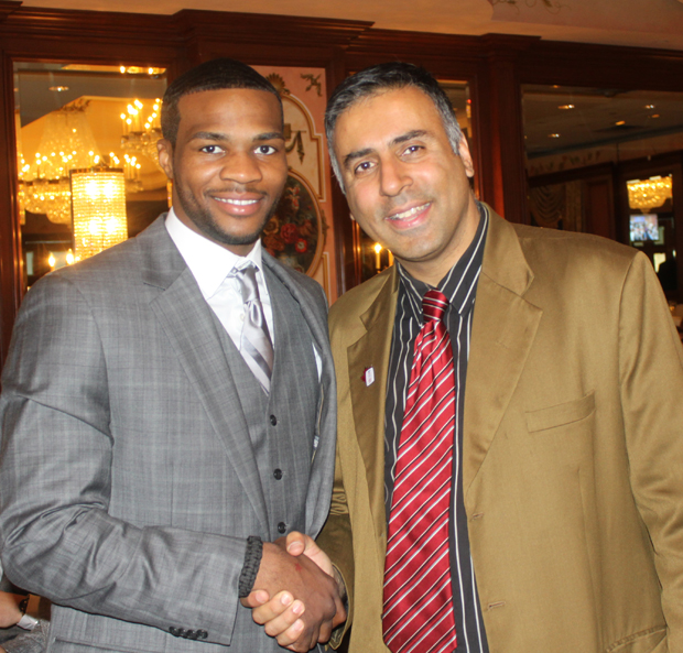 Dr.Abbey with boxer marcus browne