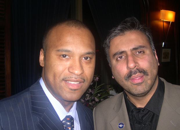 Dr.Abbey with l.Londell McMillan World renowned Entertainment Attorney