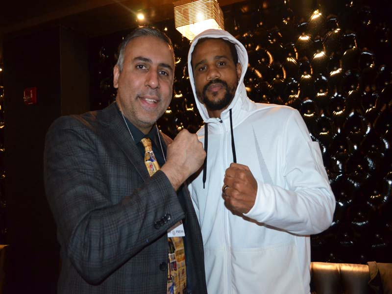 Dr.Abbey with super middleweight contender Andre Dirrell