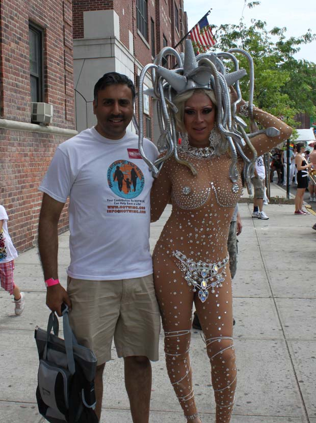 Dr.Abbey with the Best Dressed Queen at Pride Parade 2013