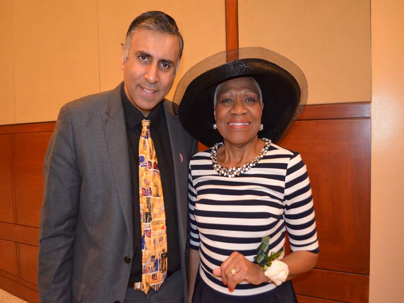 Dr.Abbey with virginia fields President NTL Black Leadership Commission