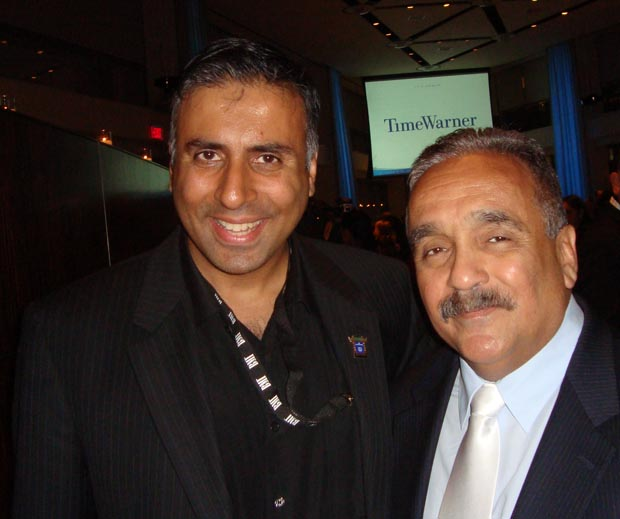 Dr.Abbey with willie colon salsa singer