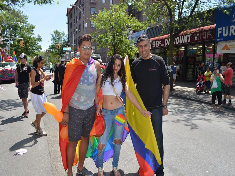 Guests at LGBTQ Parade