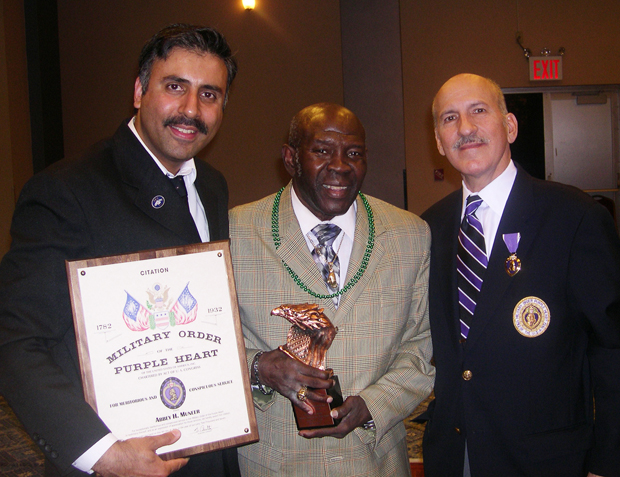Honorees Dr.  Abbey Muneer & Emile Griffith with Capt Tony Rivera Jr