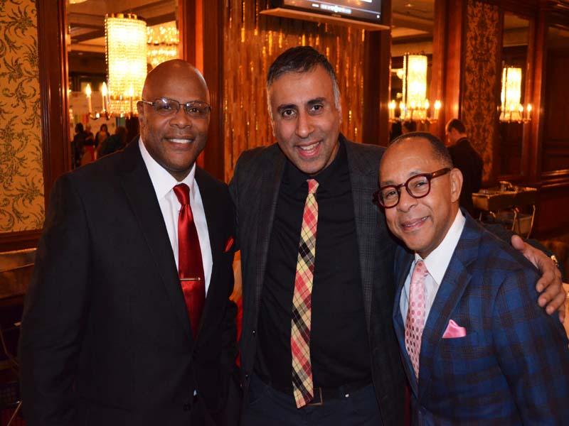 L-R Tony Herbert Activist with Dr.Abbey & Dr Jeff Gardere Psychologist