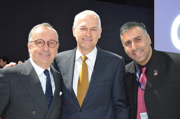 L-R Walter De Silva Head  Designer with Jonathan Browning CEO of Volkswagen ,NA and Dr.Abbey