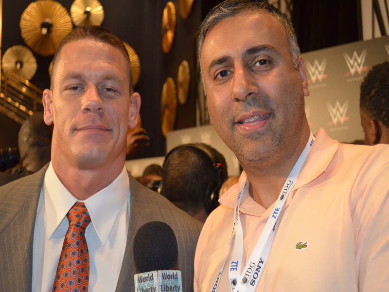 WWE World Champion John Cena with Dr.Abbey